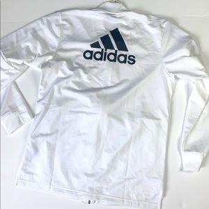 Men's White Adidas Tricot zip -up jacket size L